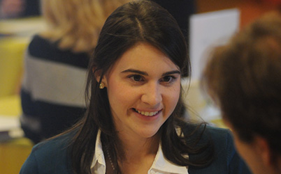 Photo of a student smiling. Link to Blog.